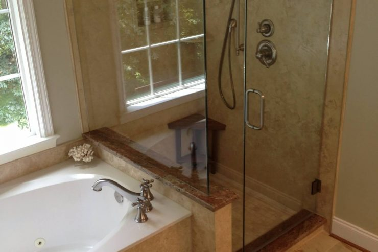 Stone Showers Archives • Cabinet Transformations